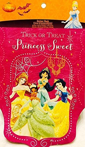 Disney Princess Trick Or Treat Stickers - 5 Sheets
