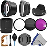 Professional Kit for NIKON Coolpix P510 Digital Cameras - Includes: Altura Photo 0.43X Wide Angle (w/ Macro Portion) and 2.2X Telephoto High Definition Lenses + Vivitar Filter Kit (UV, CPL, FLD) + Aluminum Lens Adapter Tube + Tulip Flower Lens Hood + Center Pinch Lens Cap + 3 Piece Deluxe Cleaning Kit (Bottle, Brush, Blower) + Premium MagicFiber Microfiber Lens Cleaning Cloth