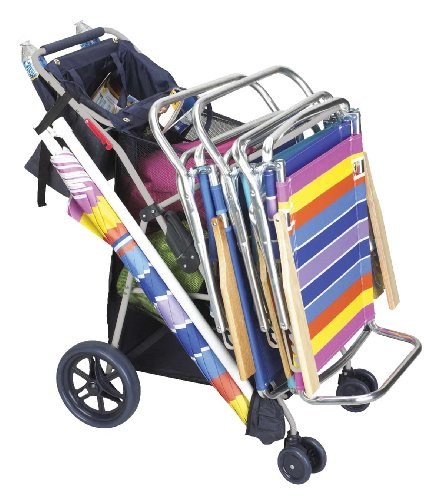 New Wonder Wheeler Beach Cooler & Beach Chair Cart
