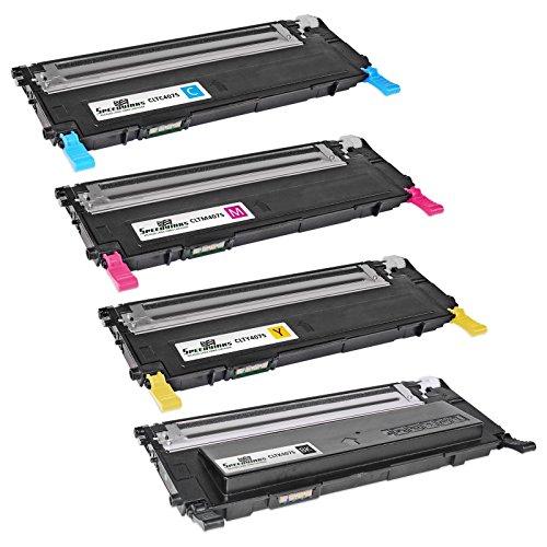 Speedy Inks - Remanufactured Alternative Set of Samsung CLP-325 Laser Toner Cartridge (CLT-K407S CLT-Y407S CLT-M407S CLT-Y407S) for use in CLP-320, CLP-320N, CLP-321N, CLP-325, CLP-325W, CLP-326, CLX-