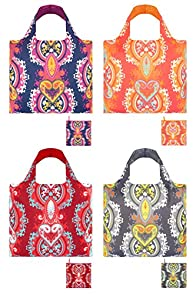 Loqi Opulent 4-pack Reusable Shopping Bags