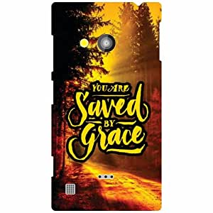 Nokia Lumia 720 Back Cover - Saved By Grace Designer Cases