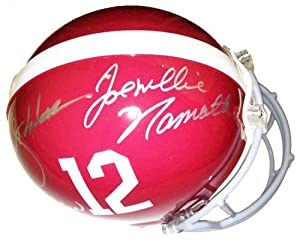 Joe Namath Autographed Helmet - Bart Starr Ken Stabler Authentic Alabama -... by Sports+Memorabilia