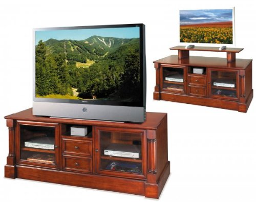 Kathy Ireland Home by Martin Furniture Mount View Wood Plasma TV Stand in Cherry Finish
