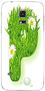 Snoogg Vector Grass Letter Designer Protective Back Case Coverfor Samsung Gal...