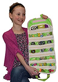 Easyview Shopkin Toy Organizer Green | Shopkins Hotwheels Matchbox Compatible