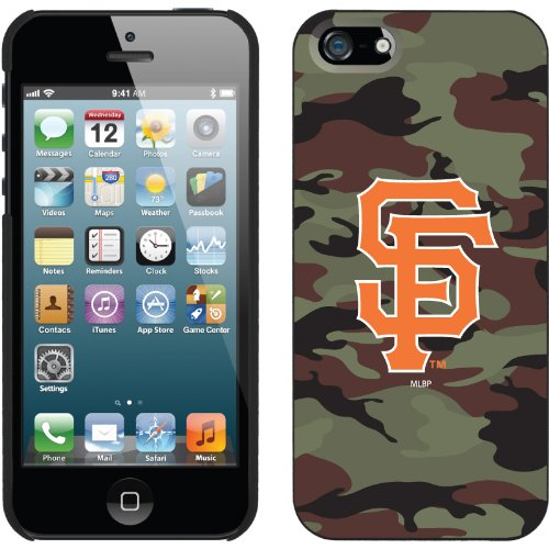 Special Sale San Francisco Giants - Traditional Camo design on a Black iPhone 5 Thinshield Snap-On Case by Coveroo