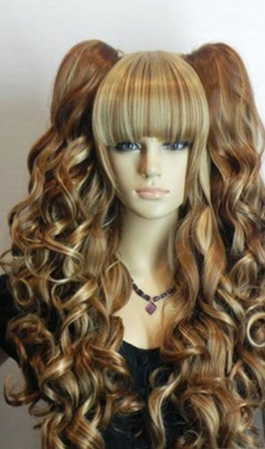 paixpays-long-wavy-curly-pony-pig-tail-blonde-yellow-brown-mix-full-hair-wig-by-paixpays