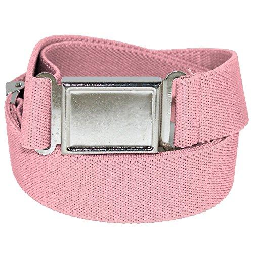 Jackster Elastic Adjustable One Size Belt w/ Magnetic Metal Buckle (Pastel Pink)