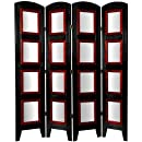Oriental Furniture Good Great Father Day Gift Idea, 5.5-Feet Photo Screen Room Divider with 8 by 10-Inch Pic Frms, 4 Panel Black