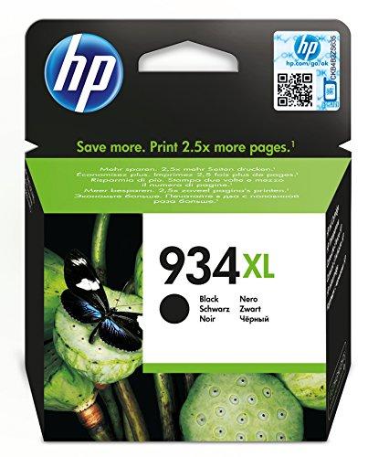 HP 934XL Schwarz Original Tintenpatrone mit hoher Reichweite