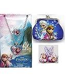 Disney Frozen Necklace Ring Set Hair Clips Coin Purse Pretend Play Anna Elsa Jewelry Set Accessory Preschool Dress...