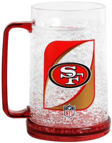 Nfl San Francisco 49'Ers 36-Ounce Crystal Freezer Monster Mug