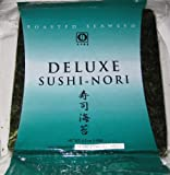 Sushi Nori Seaweed Sheets - 50 Sheets Deluxe Roasted Seaweed - 4.5oz by Nagai Nori