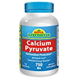 Calcium Pyruvate 750 mg 120 Capsules by Nova Nutritions