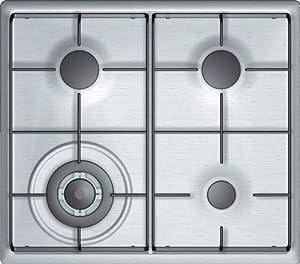 Bosch NNH615XEU hobs - Placa (Incorporado, Combi, Plata, 58,2 cm, 51,2 cm, 0 mm)