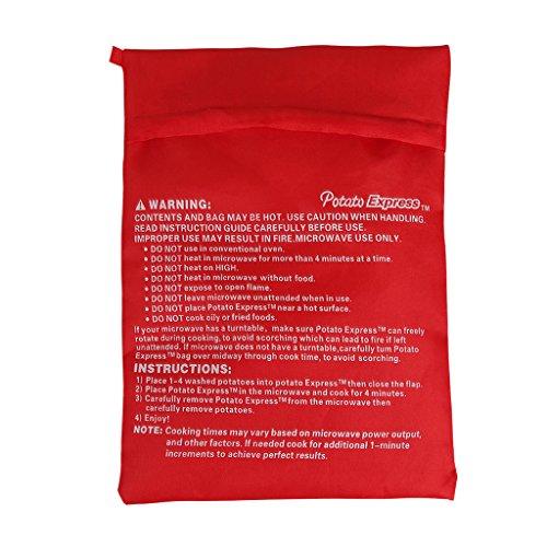 crownroyaljack Microwave Potatoes Bake Bags Express Bake Cooking Tool,Red,5pcs (Microwave Potato Sack compare prices)