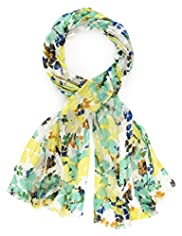 Per Una Sequin Embellished Floral Scarf