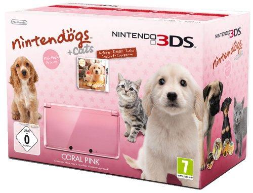 console-nintendo-3ds-rose-corail-avec-nintendogs-cats-golden-retriever-ses-nouveaux-amis-edition-lim