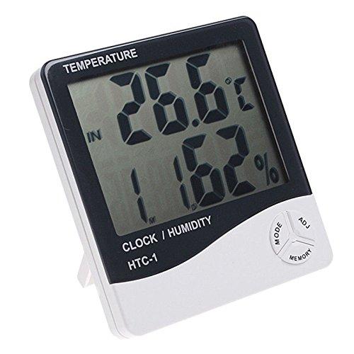 Afunta - Reloj digital con pantalla LCD (muestra la temperatura y el nivel de humedad)