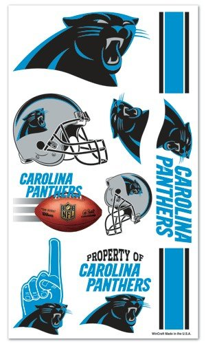 Carolina Panthers NFL Temporary Tattoos (10 Tattoos) - 1
