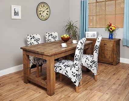 Baumhaus Heyford Rough Sawn Oak Dining Table (4 Seater)