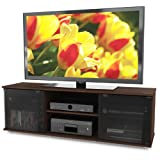 Sonax FB-2607 Fiji 60-Inch TV Component Bench, Brown