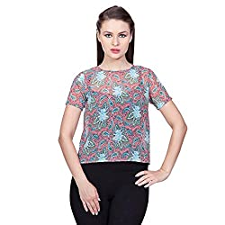 Glam Dollz Women's Top (3017KeyPaisley_Pink_X-Small)