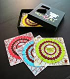 Coaster Set in Silicone, Sweet Bite (4 in Box)