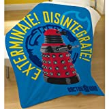 Dr Who Drone Fleece Blanket Throw OFFICIAL