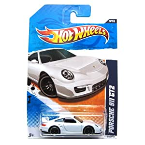 hot wheels porsche 911 gt2 119 244 white nightburnerz 2011 toys games. Black Bedroom Furniture Sets. Home Design Ideas