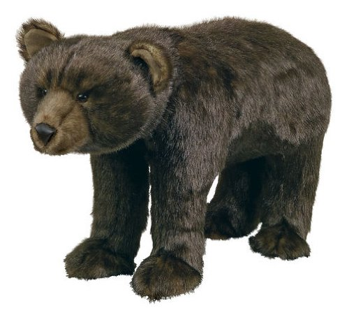 Bear Footstool (Brown Grizzly Bear)