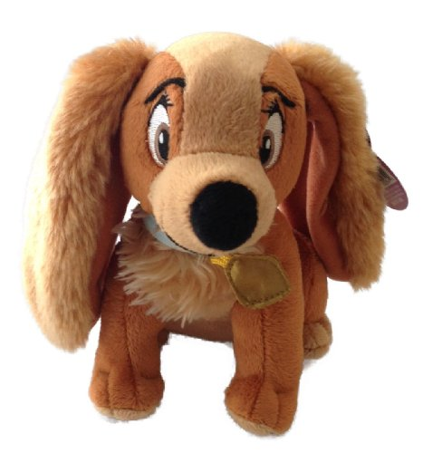 "Disney Bean Bag Plush Lady and the Tramp Lady Dog 6"" - 1"