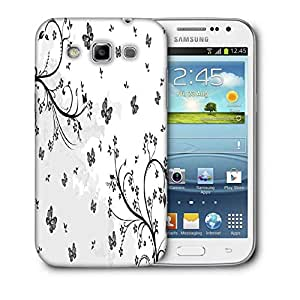 Snoogg Grey Butterflies Printed Protective Phone Back Case Cover For Samsung Galaxy Samsung Galaxy Win I8550 / S IIIIII