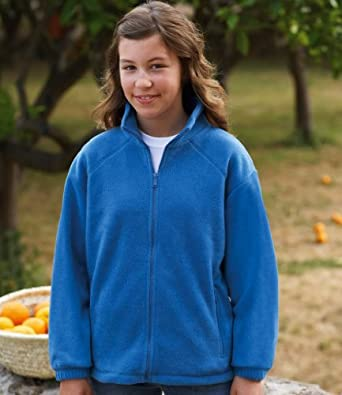 Fruit of the Loom Kids Outdoor Fleece Jacket Royal 5-6