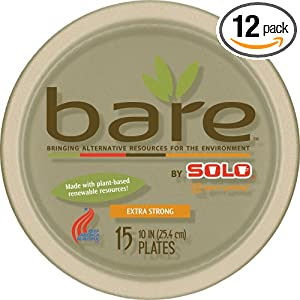 """Bare"" by Solo Biodegradable Plates"