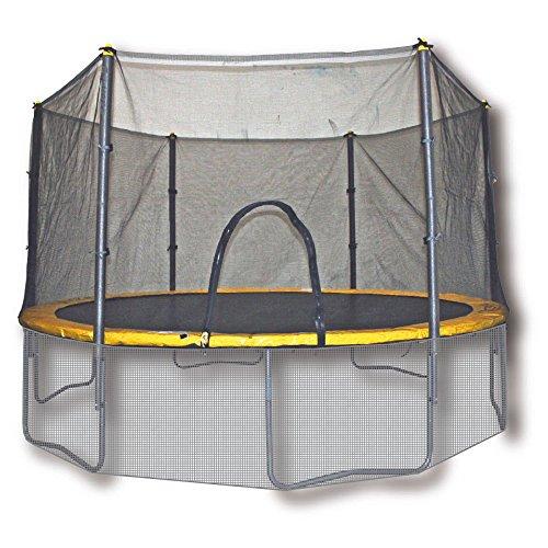 Airzone - Trampolino elastico con protezioni - diametro 370cm - Giallo/Nero - Certificato per uso pubblico (EN 913: 2009, EN 13219: 2009)