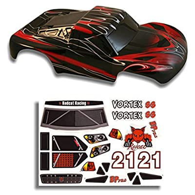 Redcat Racing Short Course Truck Body Red and Black (1/10 Scale)