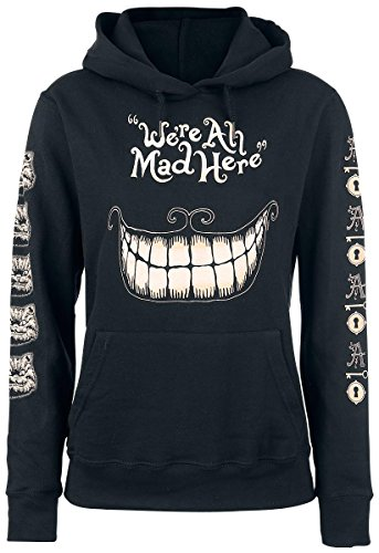Alice In Wonderland Mad Mouth Felpa donna nero S