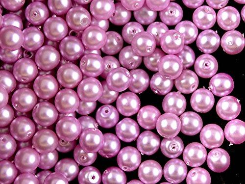 50pcs-czech-glass-pearl-beads-estrela-round-6mm-light-lilac-matte