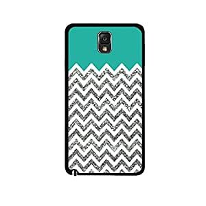 Vibhar printed case back cover for Samsung Galaxy Note 3 SilverGlitter