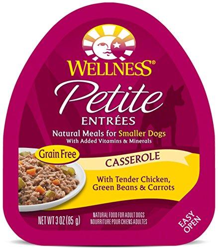 Wellness Petite Entrees Casserole Grain Free Casserole Tender Chicken Natural Wet Dog Food, 3-Ounce Cup (Pack of 24)