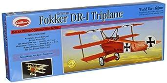 Guillow's Fokker DR1 Triplane Laser Cut Model Kit