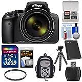 Nikon Coolpix P900 Wi-Fi 83x Zoom Digital Camera with 32GB Card + Battery + Filter + Backpack + Tripod Kit (Certified Refurbished)