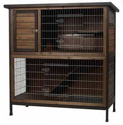 Super Pet Rabbit Hutch, 2-Story, 48-Inch Wide