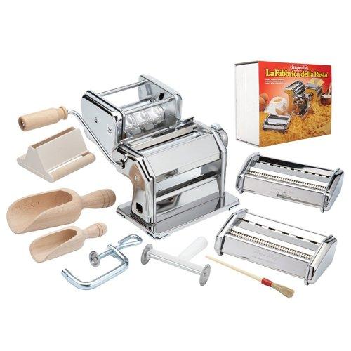 CucinaPro Imperia iPasta Deluxe 11pc Pasta Making Factory Gift Set  - Includes Machine, attachments, recipes, and accessories (Imperia Pasta Accessories compare prices)