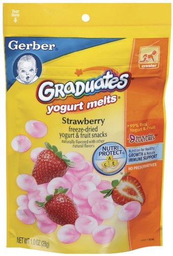 Gerber Graduates Yogurt Melts, Strawberry, 1-Ounce Pouches (Pack of 8) - 1