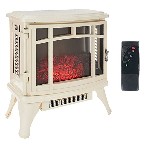 Duraflame Infrared Quartz Stove Heater with Flame Effect, Cream | DFS-8511 (Infrared Quartz Stove Fireplace compare prices)