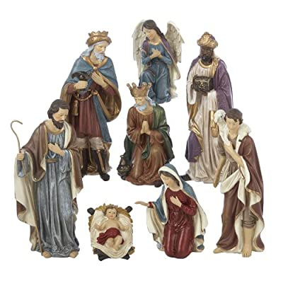 Kurt Adler Resin Nativity Figurine Set, Set of 8 from Kurt Adler