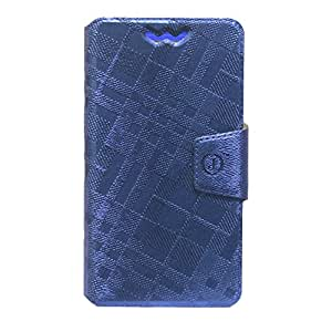 Jo Jo Krish Series Leather Pouch Flip Case With Silicon Holder For Huawei Honor 4A Dark Blue